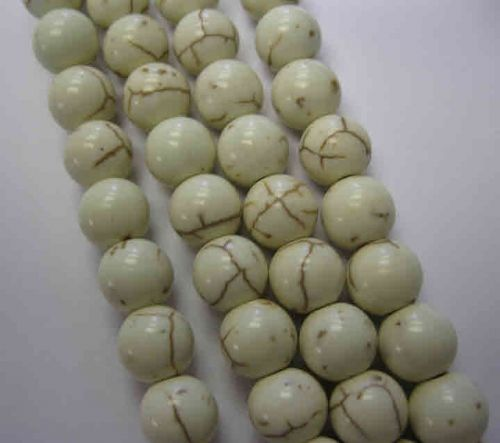 Synthetic Howlite 8mm White (25 beads)